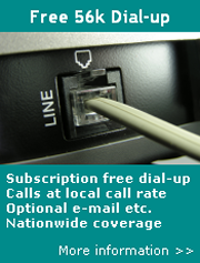 Subscription free 0845 dial-up
